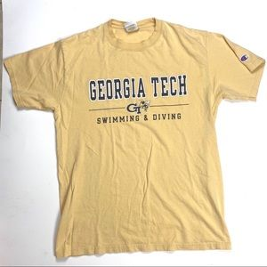 Vgt Champion Georgia Tech Swimming & Diving Shirt